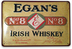 Vintage whiskey sign